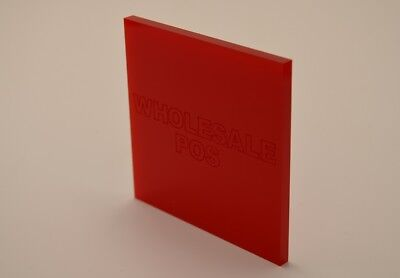 Red 433 Colour Perspex 3Mm Acrylic Sheet Custom Cut Panels Fast Free Delivery