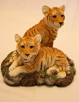 Tigers by Regency '2 Brothers' Tiger Cubs Figurine Collectable