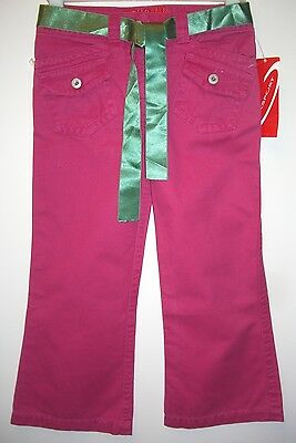 BNWT Designer OK Sport Okaidi Girls Pink Cotton Trousers Age 5 Adjustable Waist