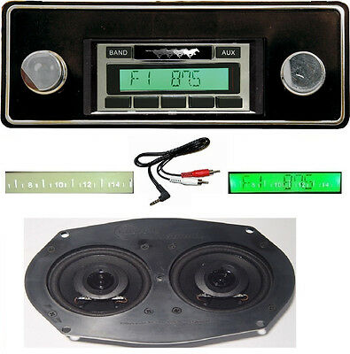1974-1978 Ford Mustang Radio w/ Dash Speaker AUX Cable Stereo 230 **