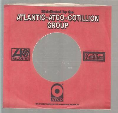 Company Sleeve 45 ATLANTIC / ATCO / COTILLION GROUP Red w/ White & Black Writing