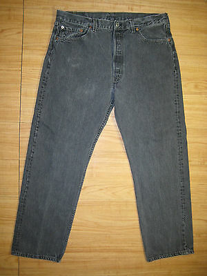 6399 Levi's 501-0658 black jean 38x30 used made in the U.S.A.