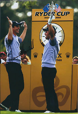 David HOWELL SIGNED Autograph 12x8 Photo AFTAL COA Ryder Cup WINNER GOLF