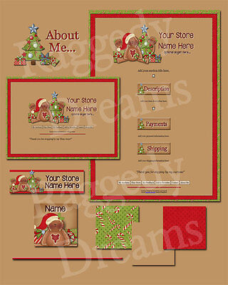 Christmas Gingerbread Fixins COMPLETE EBAY STORE DESIGN
