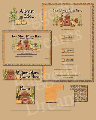 Fall Gingerbread Fixins COMPLETE EBAY STORE DESIGN