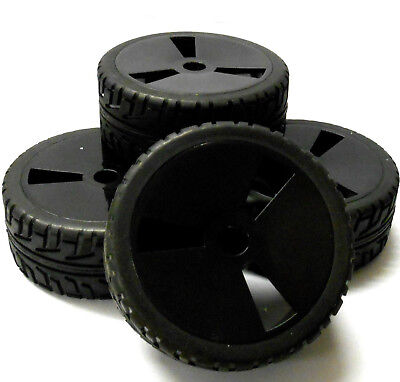 180003 1/8 Scale On Road Buggy RC Wheels and Tyres Disc V2 Black x 4