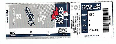2013 La Dodgers Vs St. Louis Cardinals Playoffs Nlcs Game #4 Ticket Stub
