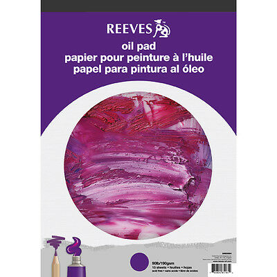 Reeves Oil Paper 15 Sheet Pads For Artists Oil Painting A4 or A3