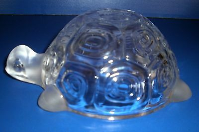 Decorative Turtle Clear and Frosted Glass