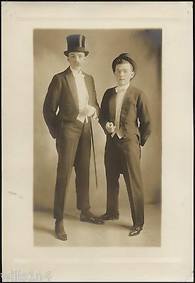 Vintage West Point photo portrait of Cadets in costume dressed as dandies