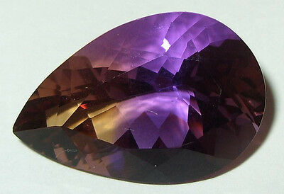 28.87ct Stunning Color Natural Bolivian Ametrine Pear Cut