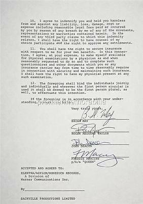 Queen Freddie Mercury Brian May Roger Taylor John Deacon Signed (Printed)