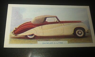1949 DAIMLER  2.5 Litre  Coupe Orig  Colour Swap Card UK