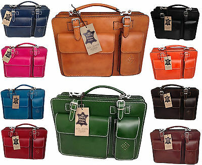 borsa bag cartella media porta documenti da lavoro vera pelle made in italy 7006