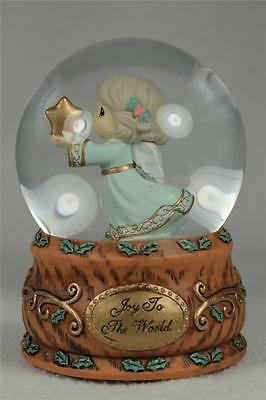 Precious Moments 'Joy To The World' Musical Snow / Water Globe #131101 New In Bx