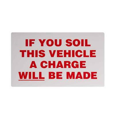 If You Soil This Vehicle.... - Taxi Driver Minicab Window Sticker