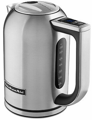 New KitchenAid Stainless Steel Variable Heat Electric Water Kettle KEK1722SX