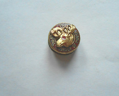 Great Vintage Loyal Order of Moose Lodge PAP Purity Aid Progress Pin Pinback