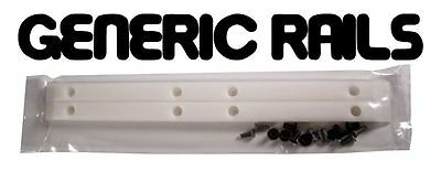 NOS Generic SIDE RAILS Skateboard Gorilla Rib Bone Style Grab Rails WHITE