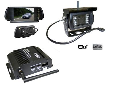Veba Wireless 2.4Ghz Rearview Colour Reversing Camera With Mirror Monitor Van