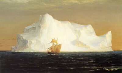 The Iceberg Ship Boat Ocean 1891 Painting By Frederic Edwin Church Repro