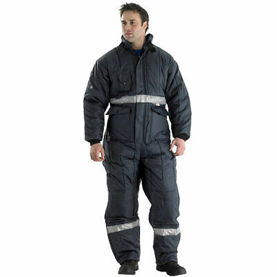 Click Coldstar Freezer Boilersuit Padded Thermal Lined Coverall Overall Work