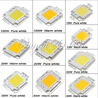 10W 20W 30W/50W/100W High Power Pure Warm White LED SMD Lamp Chip Light Bulb DIY