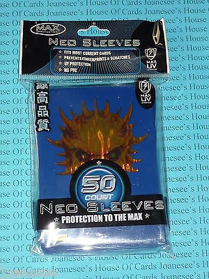 "Sleeves x 50 Deck Protectors ""Skull"" Gold and Blue Max Protection Standard Size"