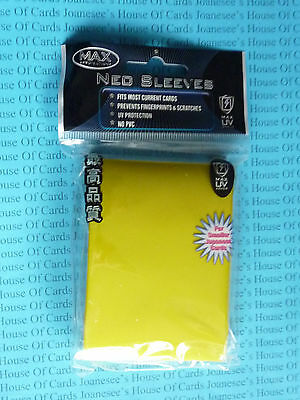 Sleeves x 50 Yellow Deck Protectors Yu-gi-oh Max Protection
