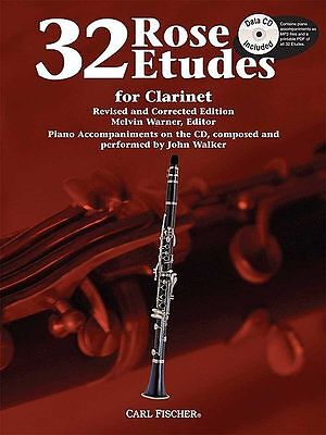 Rose 32 Etudes - Clarinet Method Book/cd Wf85