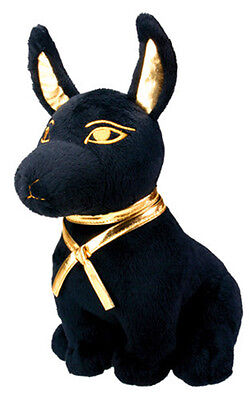 """EGYPTIAN GOD ANUBIS STUFFED PLUSH DOLL.9""""in H LARGE SOFT CUDDLY CUTE COLLECTIBLE"""