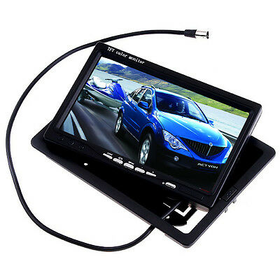 7 Color TFT LCD Screen 2 Video Input Car Rear View Headrest DVD VCR Monitor UK