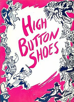 1949 High Button Shoes theatre program early Audrey Meadows Eddie Foy Jr.