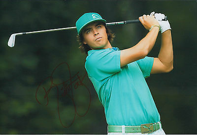 Rickie FOWLER SIGNED Autograph 12x8 Photo AFTAL COA Captains Pick Ryder Cup GOLF