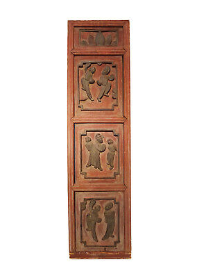 """Antique Chinese Wall Hanging 37.5 """" H by 10"""" w"""