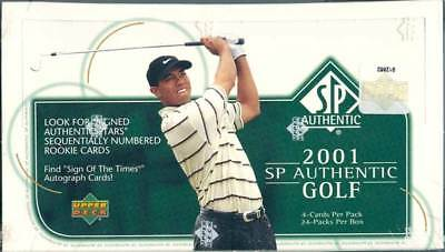 2001 Upper Deck Sp Authentic Golf Hobby 12 Box Case Blowout Cards