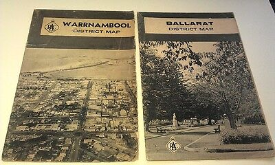 RACV Warnambool & Ballarat Road Maos from 1960s