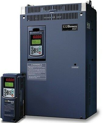 15 HP 3 PHASE 230 VOLTS TECO IP 20 VARIABLE FREQUENCY DRIVE EQ7-2015-C NEW