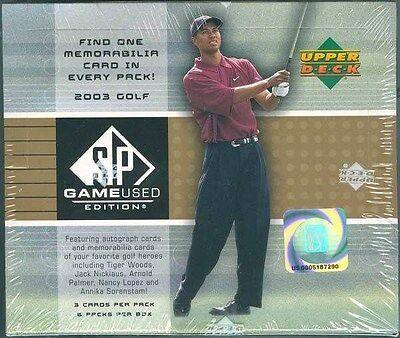 2003 Upper Deck Ud Sp Game Used Golf Hobby Box Blowout Cards