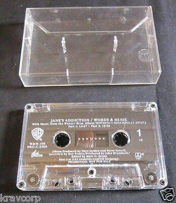Jane'S Addiction 'Words & Music' 1988 Promo Cassette
