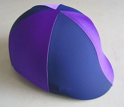 Horse Helmet Cover ALL AUSTRALIAN MADE Purple & Navy Any size you need