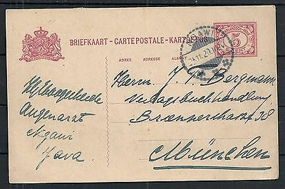 Netherland Indies 1920 PC NGAWI to München
