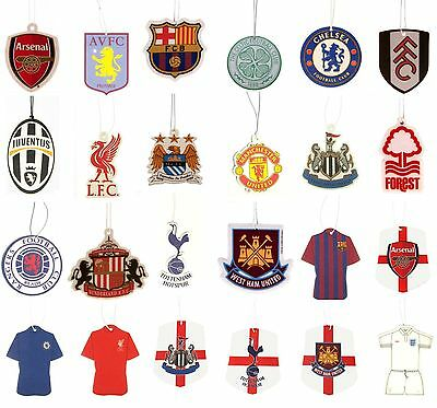OFFICIAL FOOTBALL CLUB - AIR FRESHENERS (Car Accessories) Crest/Kit | All Teams