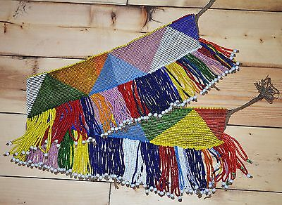Very Rare ANTIQUE Ethiopian Beaded African Belt Apron From Ethiopia