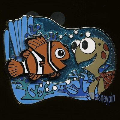 Disney Pin *Finding Nemo* Characters Cute Nemo and Baby Squirt (3D)!