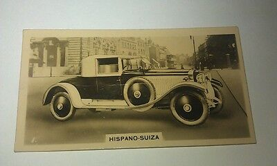 HISPANO SUIZA Wills New Zealand Real Photo Cigarette Card Issued 1926