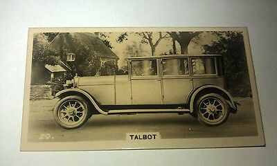 TALBOT 14/45hp -  Wills New Zealand Real Photo Cigarette Card Issued 1926