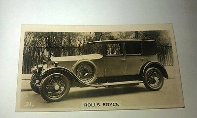 ROLLS ROYCE 20hp   -  Wills New Zealand Real Photo Cigarette Card Issued 1926