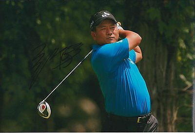 최경주 KJ CHOI SIGNED Autograph 12x8 Photo AFTAL COA Korean Tour WINNER Golf