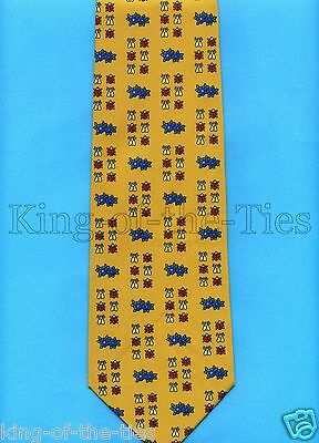 FREE P&P* 100% Silk - Ladybirds & Bumble Bees design - Novelty Insect Tie  #1645